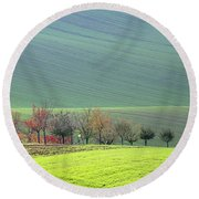 Autumn In South Moravia 18 Round Beach Towel