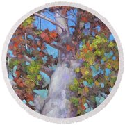 Autumn Oak Round Beach Towel