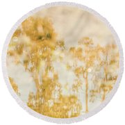 Autumn Puddles Round Beach Towel