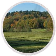 Autumn Scenery Round Beach Towel