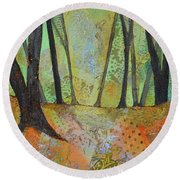 Autumn's Arrival I Round Beach Towel