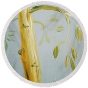 Avocado Tree  Round Beach Towel