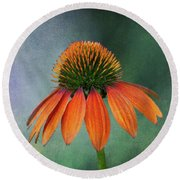Round Beach Towel featuring the photograph Awaiting  Pollination by Dale Kincaid