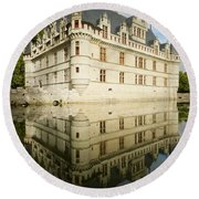Round Beach Towel featuring the photograph Azay-le-rideau by Stephen Taylor