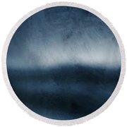 Azul 1- Art By Linda Woods Round Beach Towel