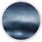 Azul 2- Art By Linda Woods Round Beach Towel