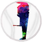 B-wing Watercolor Round Beach Towel