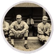 Babe Ruth 1915 Round Beach Towel