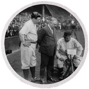 Babe Ruth 1923 Round Beach Towel