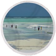 Back From Long Day Round Beach Towel