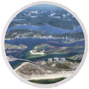 Backwaters 5122 Round Beach Towel