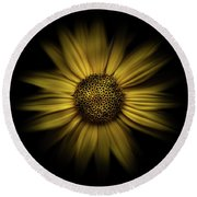 Backyard Flowers 18 Color Flow Version Round Beach Towel