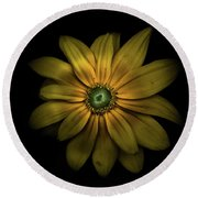 Backyard Flowers 34 Color Version Round Beach Towel
