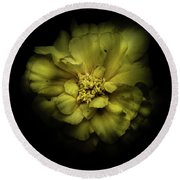 Backyard Flowers 41 Color Version Round Beach Towel