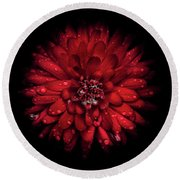 Backyard Flowers 45 Color Version Round Beach Towel