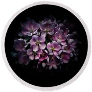 Backyard Flowers 47 Color Version Round Beach Towel