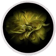 Backyard Flowers 67 Color Version Round Beach Towel