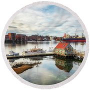 Badger Island And Portsmouth Round Beach Towel