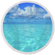 Round Beach Towel featuring the photograph Bahama Blues, Half Moon Cay by Dawn Richards