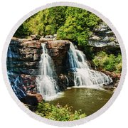 Balckwater Falls - Wide View Round Beach Towel