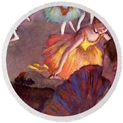 Ballet Seen From A Box Seat - Digital Remastered Edition Round Beach Towel