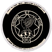 Band Of Brothers First Cavalry Regiment Animo Et Science Round Beach Towel