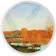 Banks Of The Seine Near Bougival - Digital Remastered Edition Round Beach Towel