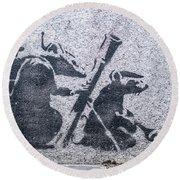 Banksy Bazooka Rats Round Beach Towel