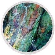 Round Beach Towel featuring the digital art Bark L'verde  by Cindy Greenstein