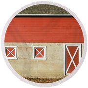 Barn Lines Round Beach Towel