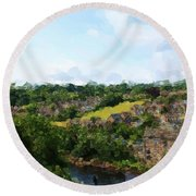 Barnard Castle View Round Beach Towel