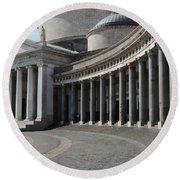 Basilica San Francesco Di Paola Round Beach Towel