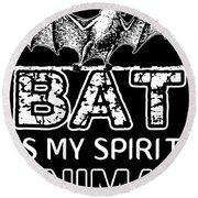 Bat Is My Spirit Animal Car Science Round Beach Towel