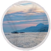 Batangas Sunset Round Beach Towel