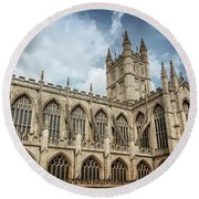 Bath Abbey Round Beach Towel