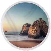 Bathed In Sunlight Round Beach Towel