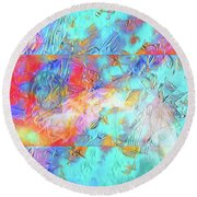 Round Beach Towel featuring the digital art Battle For Europa by Mike Braun
