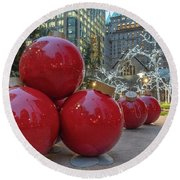 Round Beach Towel featuring the photograph Baubles by Ross G Strachan