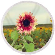 Round Beach Towel featuring the photograph Be You by Candice Trimble