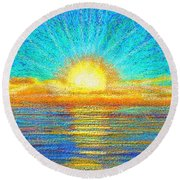 Beach 1 6 2019 Round Beach Towel