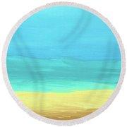 Beach Abstract Round Beach Towel