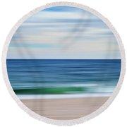 Beach Blur Round Beach Towel