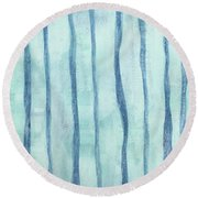 Beach Collection Beach Water Lines 2 Round Beach Towel