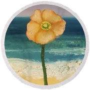 Beach Flora Round Beach Towel