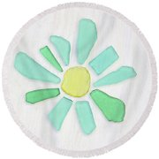 Beach Glass Pizzazz Round Beach Towel