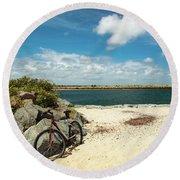 Beach Ride Round Beach Towel