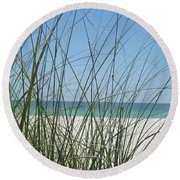 Beach View Round Beach Towel