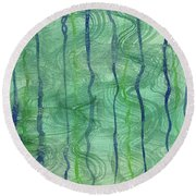 Beach Water Lines Round Beach Towel
