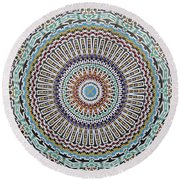 Beautiful Infinity Desgn Mosaic Fountain Round Beach Towel