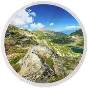 Beautiful Landscape Of Pirin Mountain Round Beach Towel